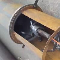内壁喷砂除锈工作视频